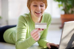 stock photos - online shopping girl_1