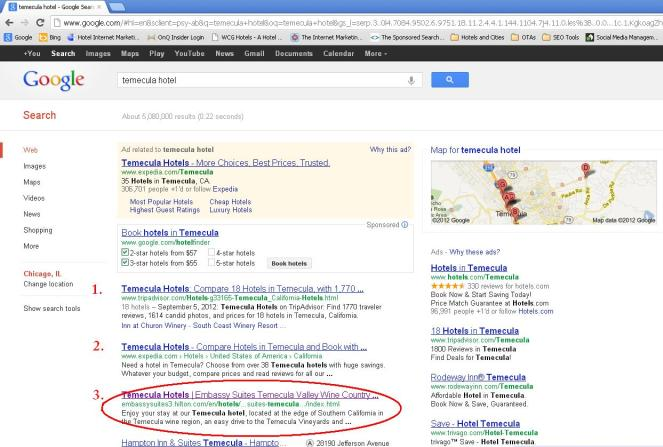 google search engine rankings