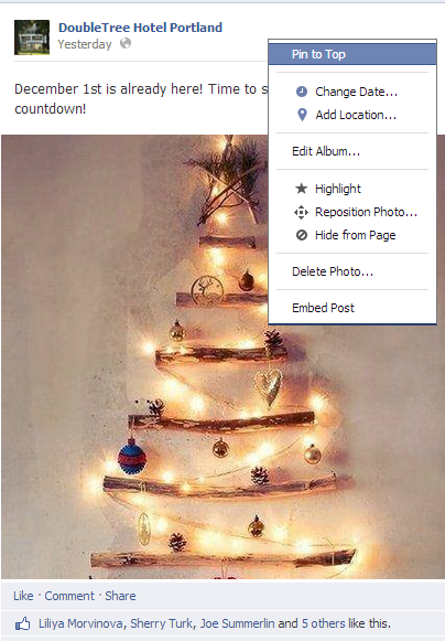 facebook-pinning