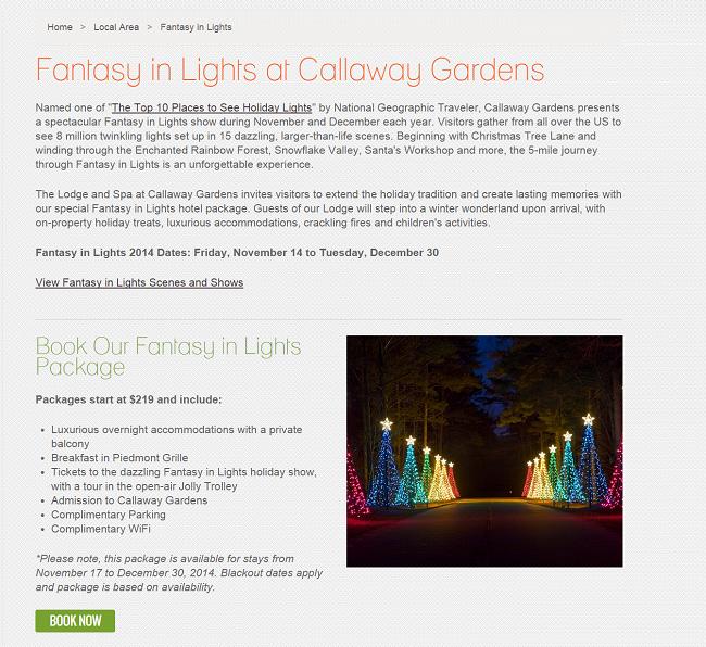 Calloway Gardens Fantasy in Lights