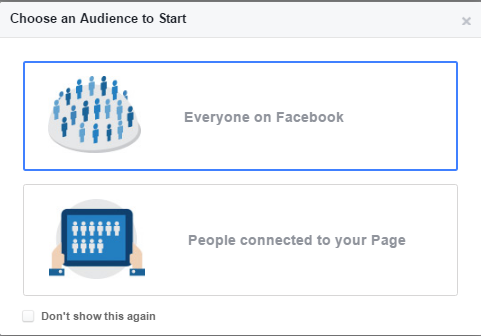 facebook audience insights audience options
