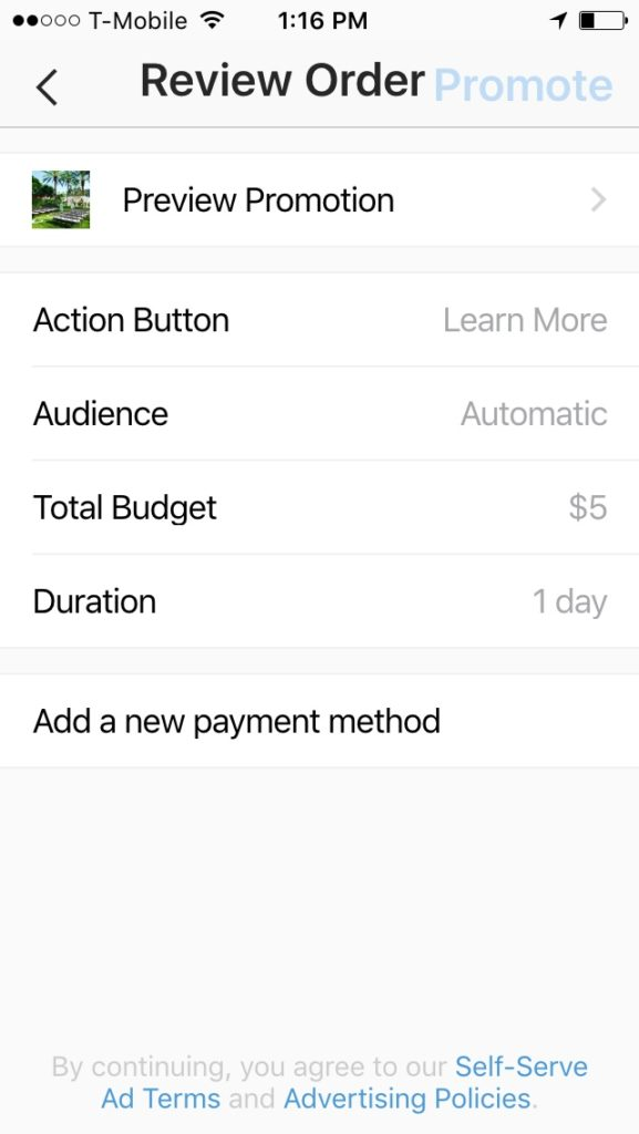 Preview your Instagram ad