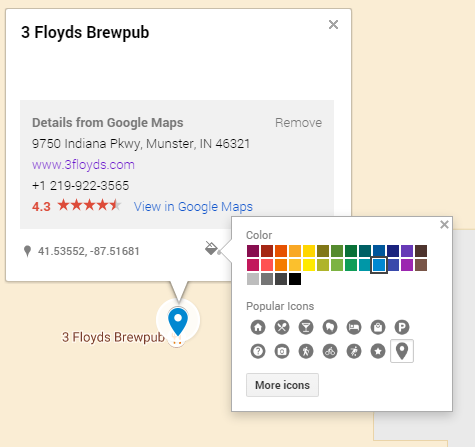 how to add an icon to custom google my maps
