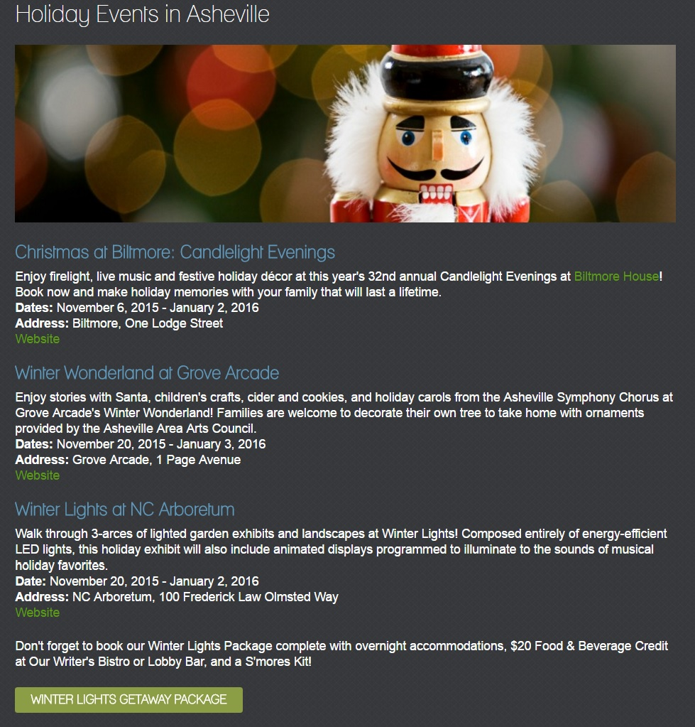holiday local events example