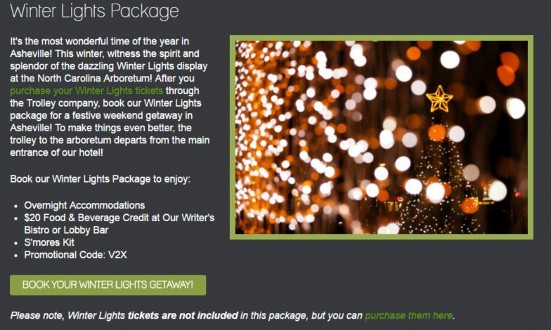 hotel winter special offer example