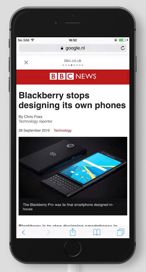 BBC News AMP Page