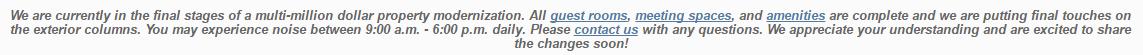 hotel renovation marketing example