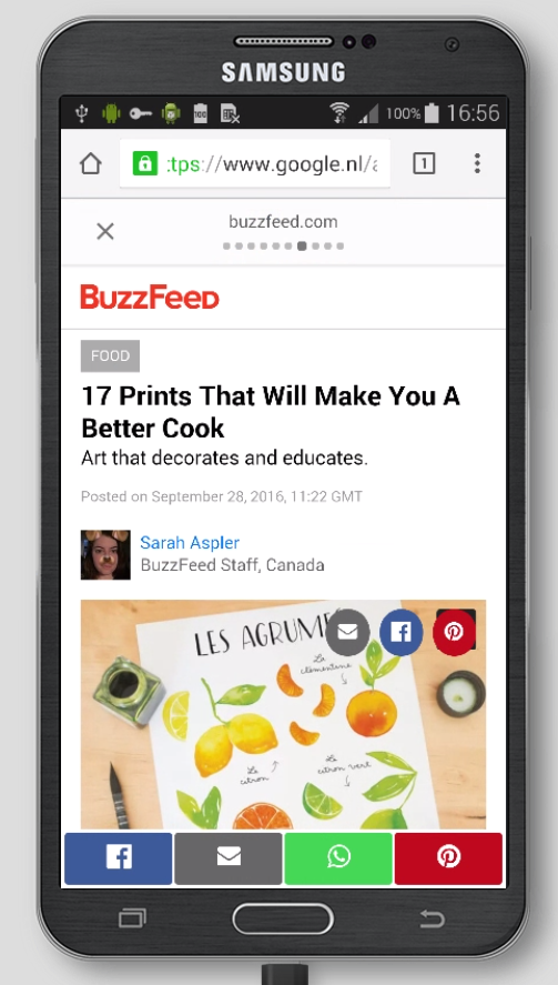 BuzzFeed AMP Page
