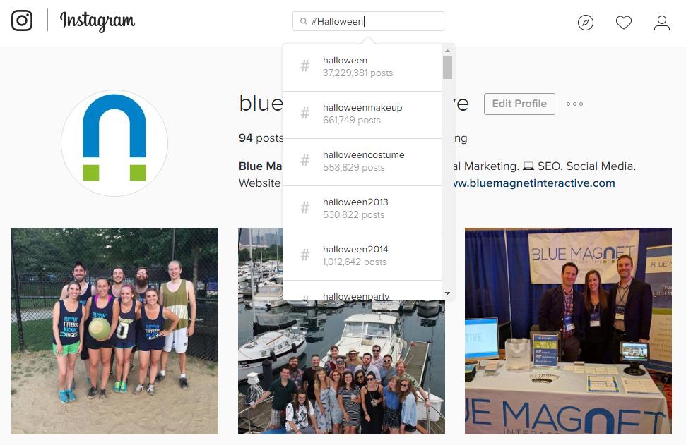 Instagram Desktop Example
