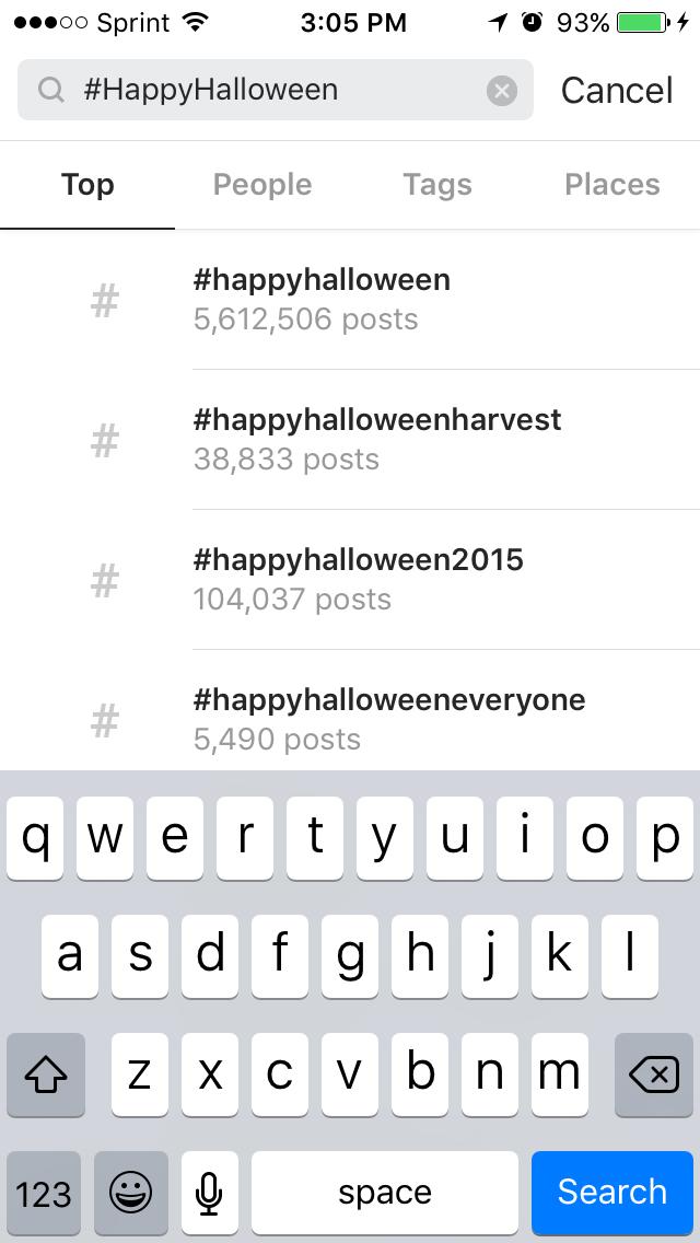Instagram Mobile Example