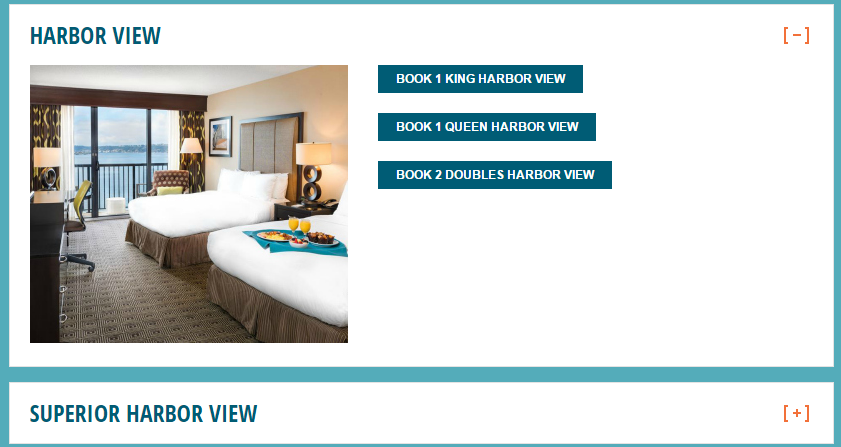 hotel rooms page content experiment