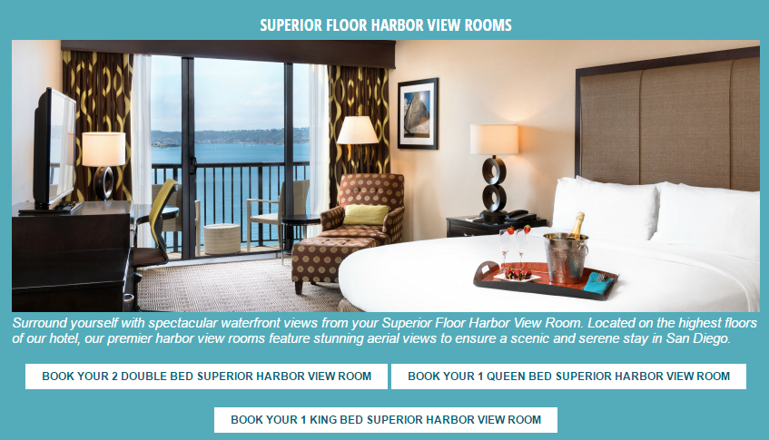 content experiment for hotel rooms page