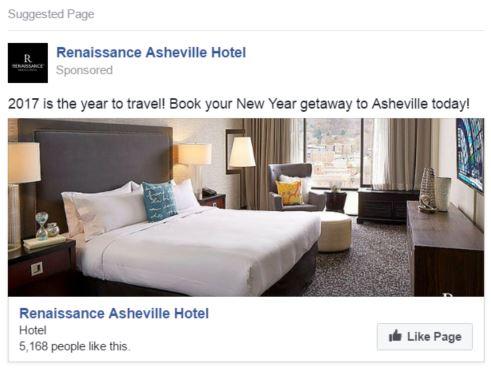 renaissance asheville facebook ad