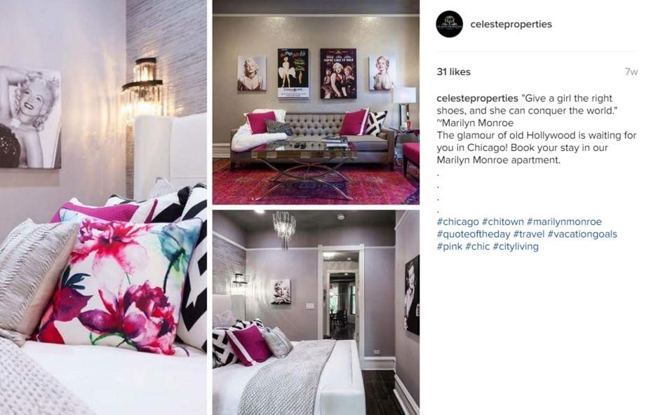 celeste properties instagram post