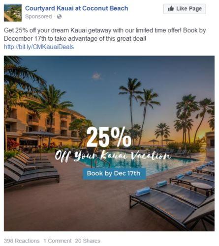 courtyard kauai facebook promoted post