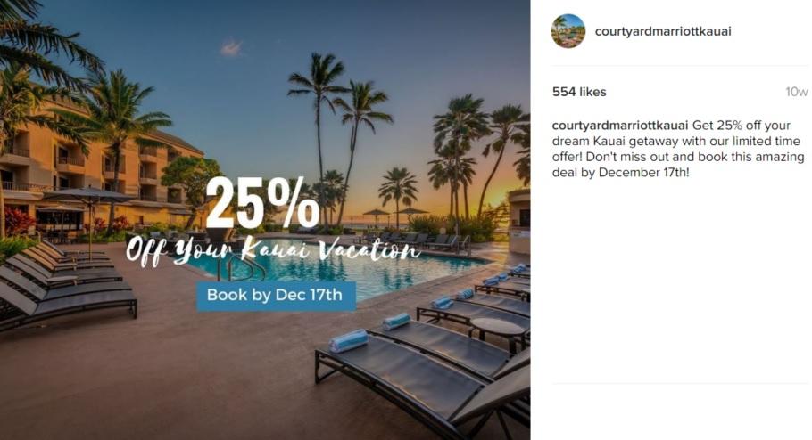 courtyard kauai instagram ad