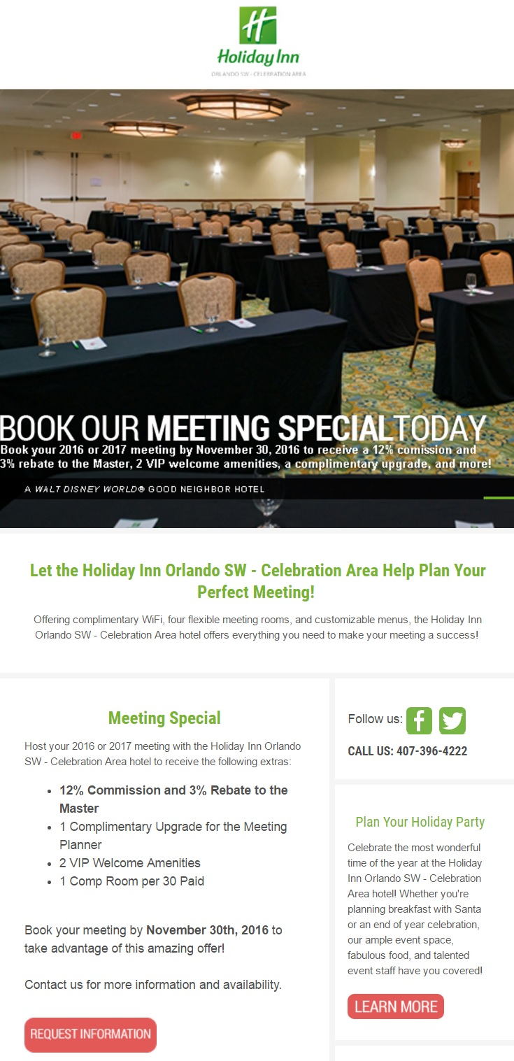 holiday inn orlando sw meeting email