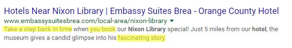 the second example of a good meta description