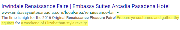 the fourth example of a good meta description