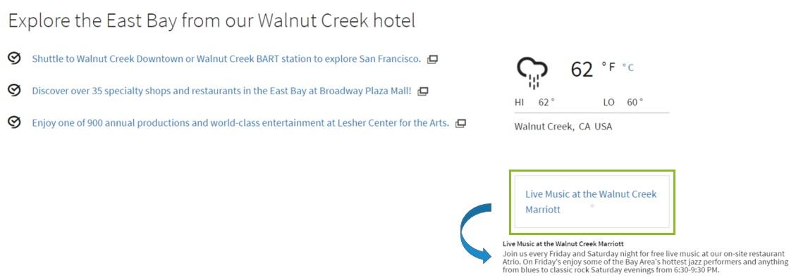 walnut creek marriott property message