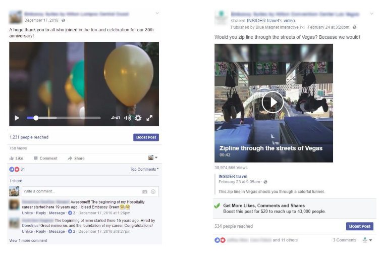 Video Post Examples