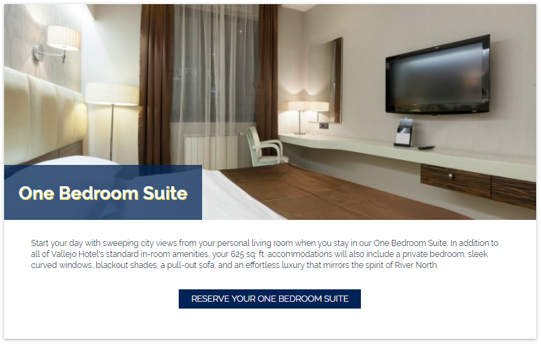 booking link strategy on hotel rooms page