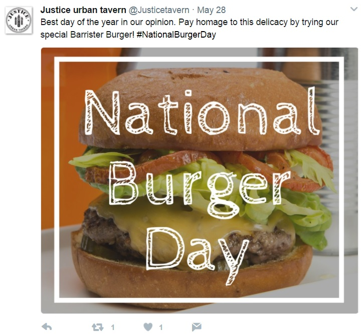 justice national burger day