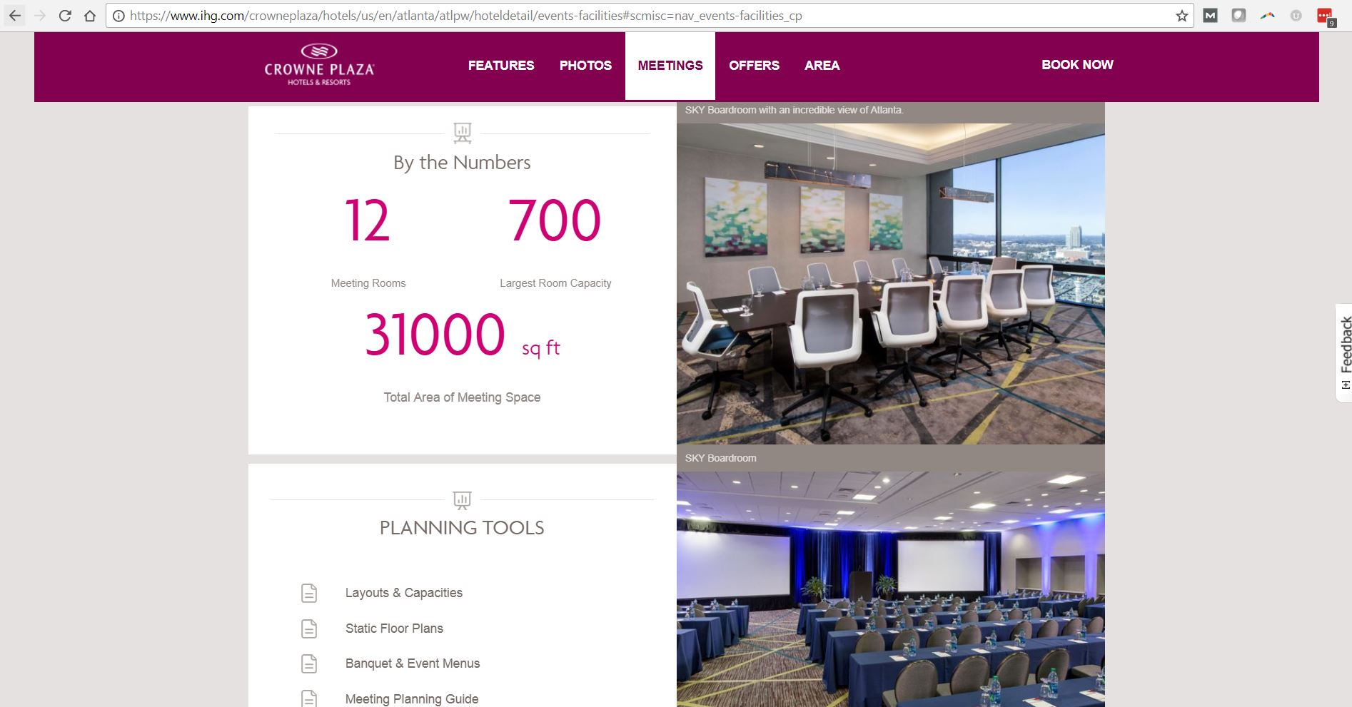 brand site meetings page