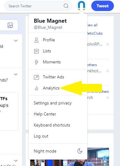where to find twitter analytics