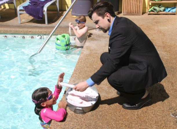 White glove service from the Popsicle Hotline at The Magic Castle Hotel