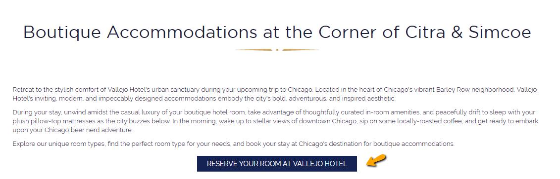 general reservation booking link on a hotel website