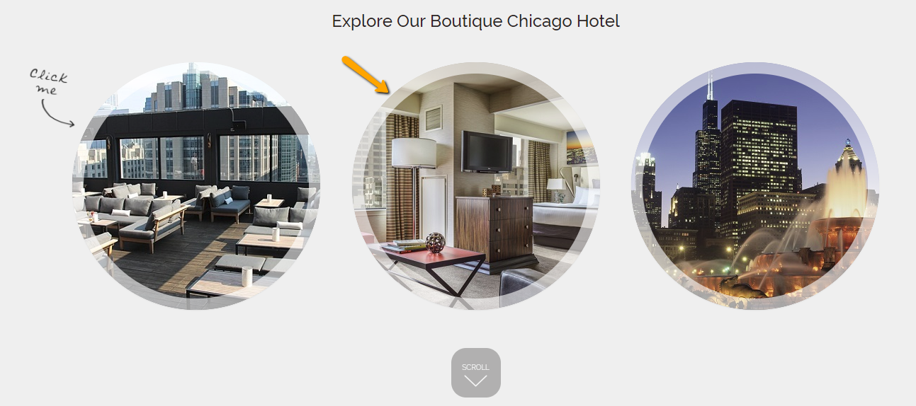 homepage callout linking to rooms page
