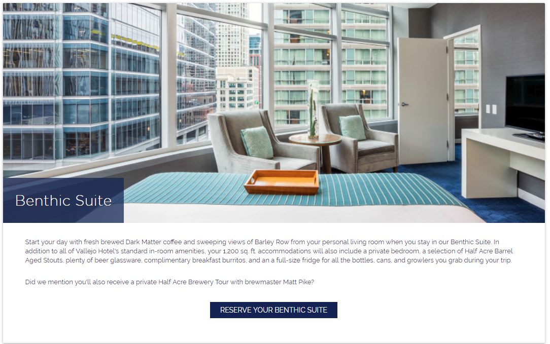 room description on hotel accommodations page