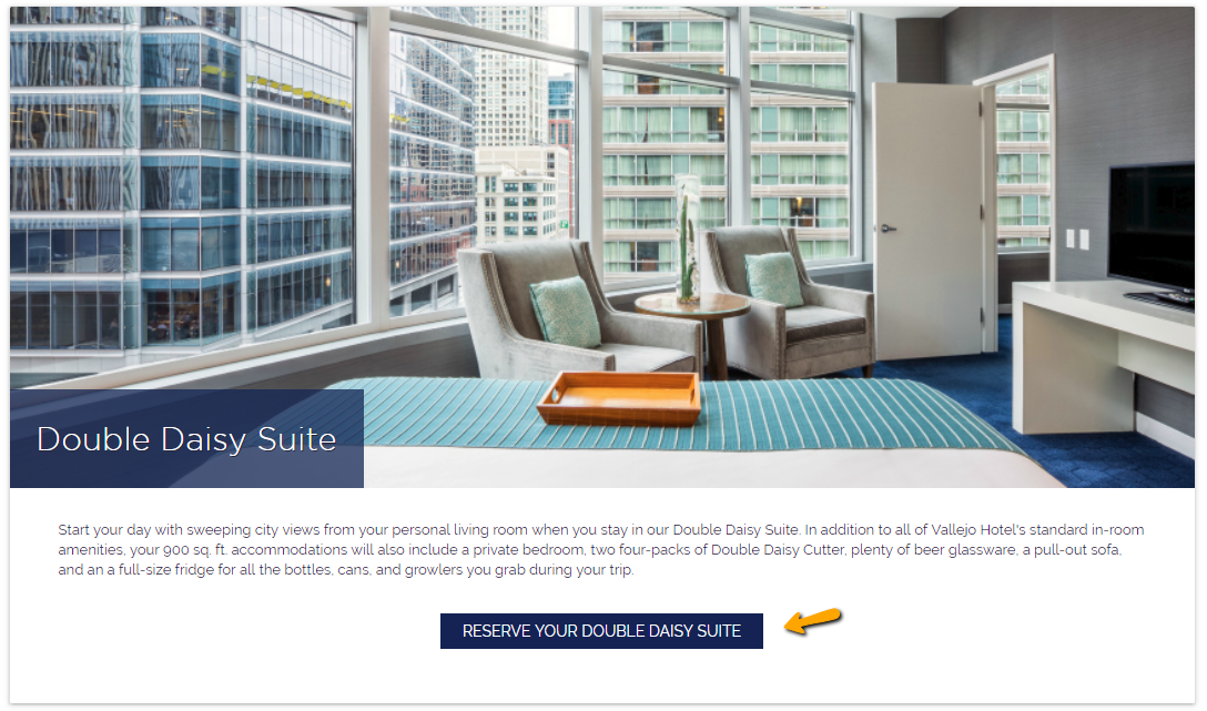 unique calls to action on hotel rooms page