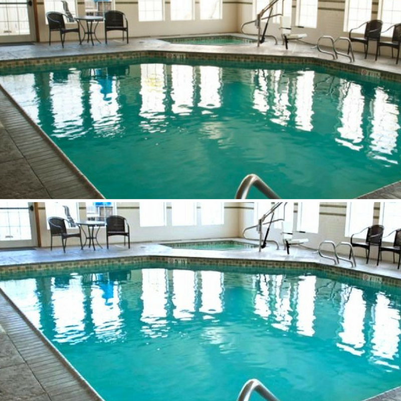 difference of editing in hotel photo
