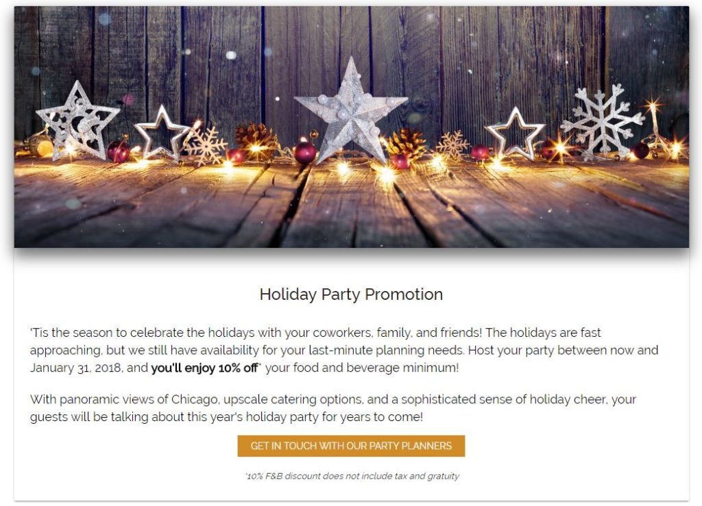 holiday party example