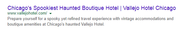 short meta description for hotel website