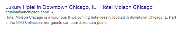 poorly written meta description for hotel website