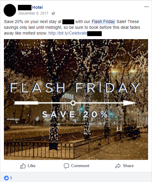 flash friday facebook post 1