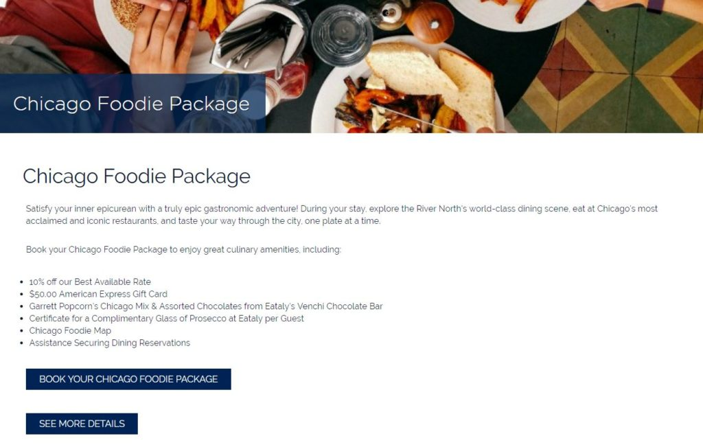Kinzie Hotel Chicago Foodie Package