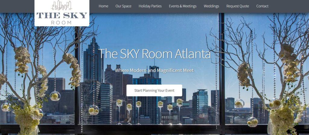 Sky Room Website Home Page