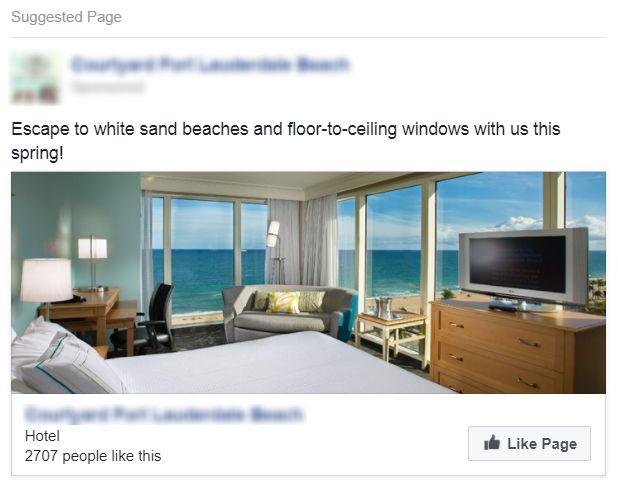Hotel Spring Facebook Ad