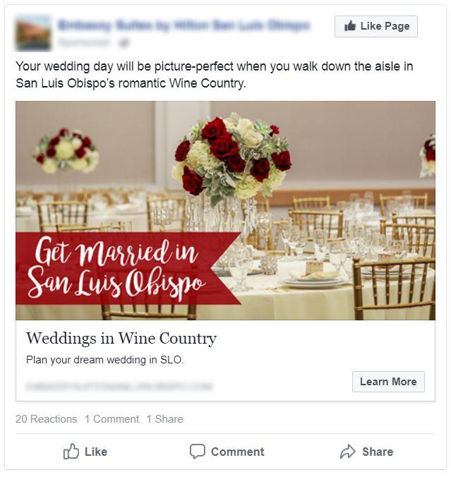 Hotel Wedding Facebook Ad