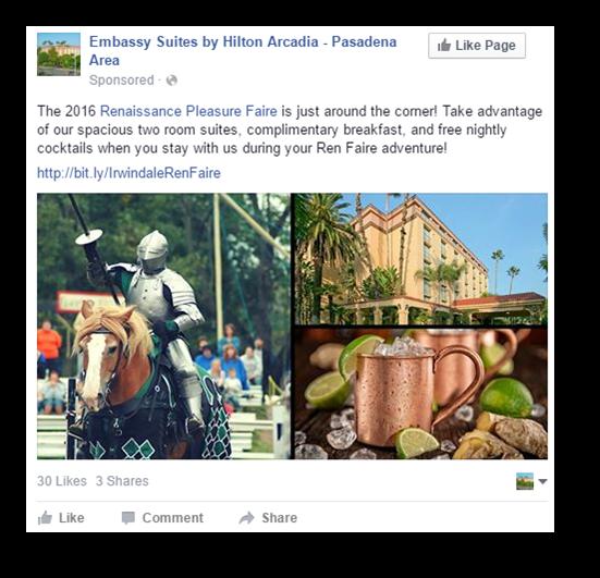 facebook post about renaissance faire
