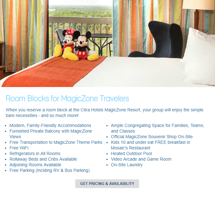 amenities content on hotel room blocks page