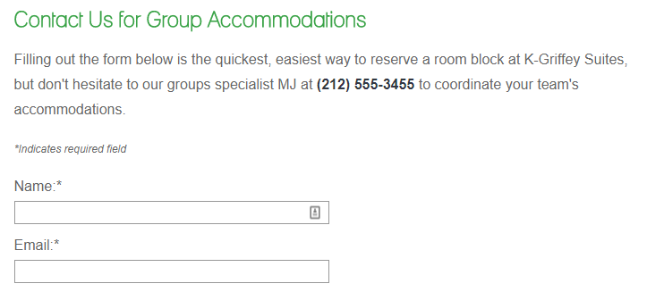 rfp form copy on group accommodations page