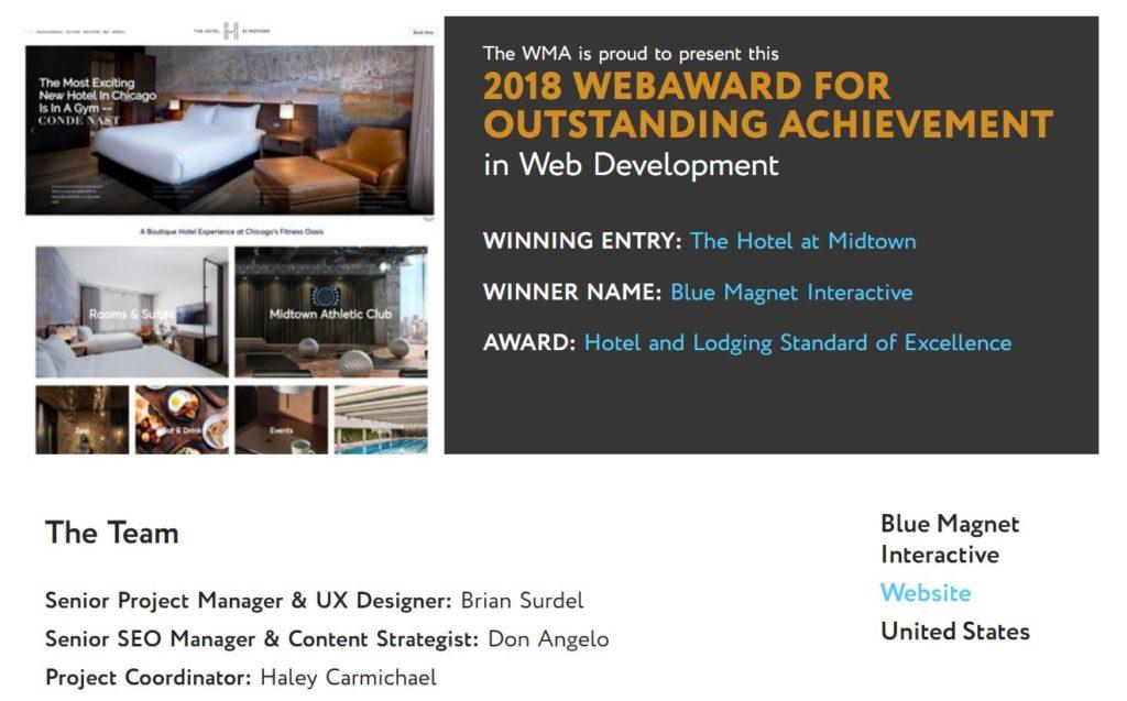 2018 web award scores