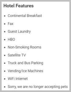 charlestown hotel generic amenities