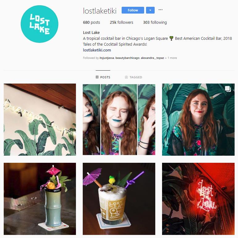 lost lake tiki bar instagram