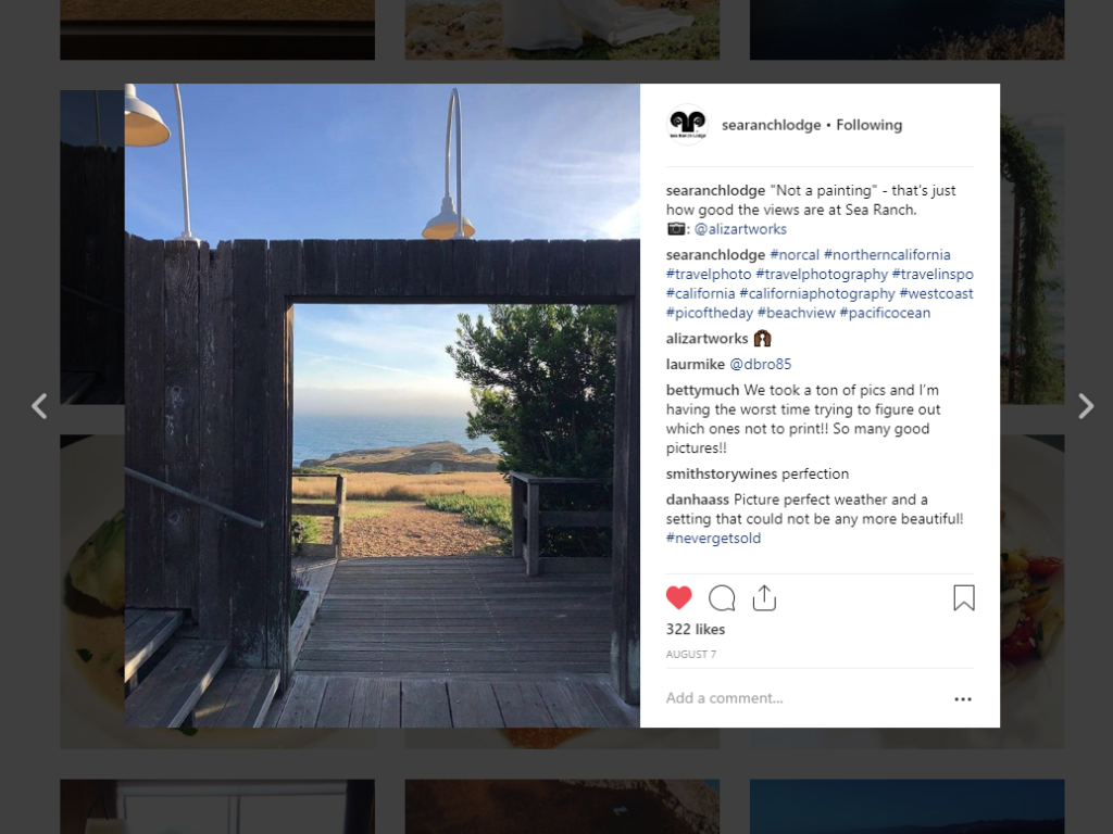 instagram sea ranch california
